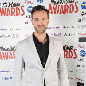Pajama Game star Michael Xavier at the 2014 WhatsOnStage Awards