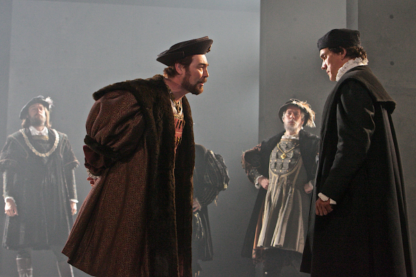 Nathaniel Parker (Henry VIII) and Ben Miles (Thomas Cromwell) in Wolf Hall