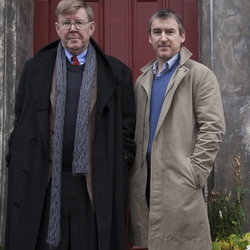 West Yorkshire Playhouse artistic director, James Brining (r), with Alan Bennett