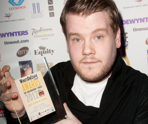 Corden won a 2012 WhatsOnStage Award for One Man, Two Guvnors