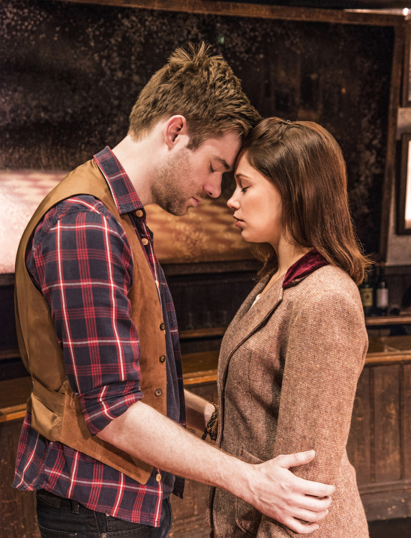 David Hunter (Guy) and Jill Winternitz (Girl) in Once at the Phoenix Theatre