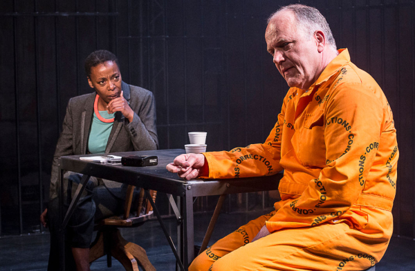 Noma Dumezweni and Matthew Marsh in A Human Being Died That Night