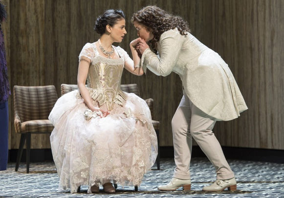 Causing a stir: Teodora Gheorghiu and Tara Erraught in Der Rosenkavalier at Glyndebourne