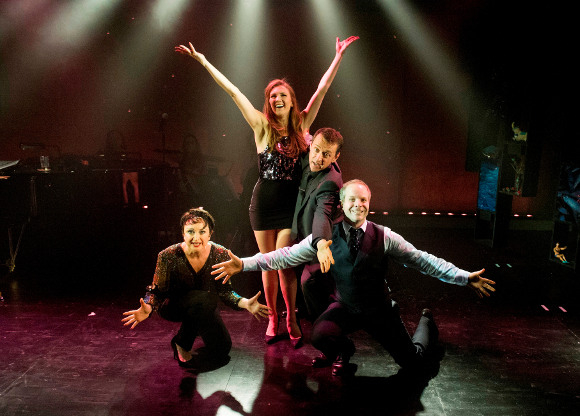 Caroline O'Connor, Summer Strallen, Andrew Lippa and Damian Humbley