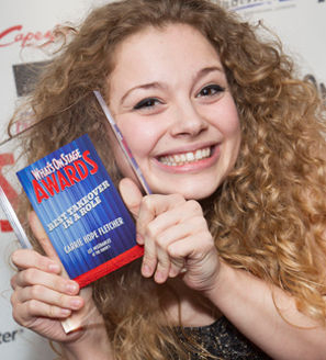 Carrie Hope Fletcher at the 2014 WhatsOnStage Awards