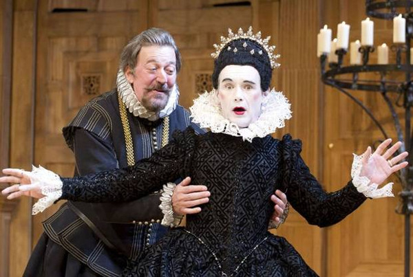 Grappling for gongs: Stephen Fry and Mark Rylance in Twelfth Night