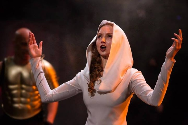 Lily Cole in Last Days of Troy at Royal Exchange Theatre, Manchester