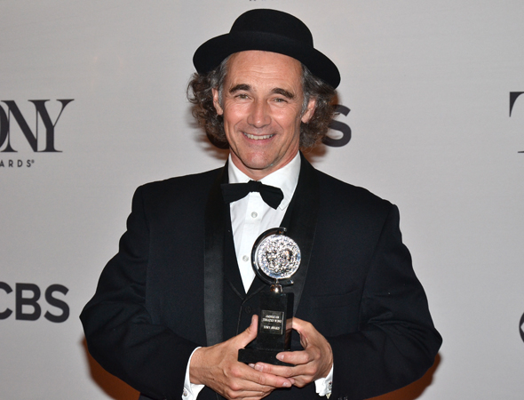 Mark Rylance, with his Tony for Best Featured Actor in a Play