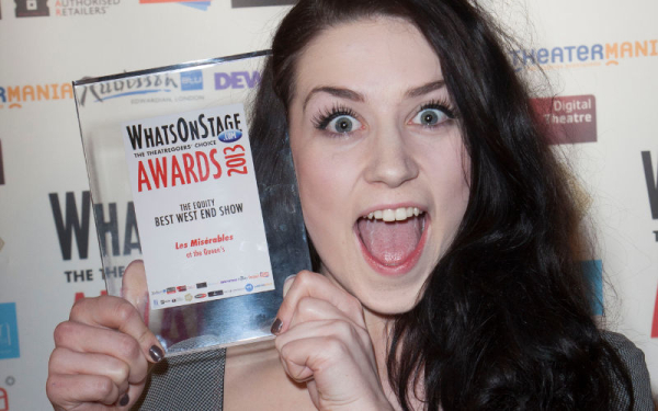 Danielle Hope at the 2013 WhatsOnStage Awards