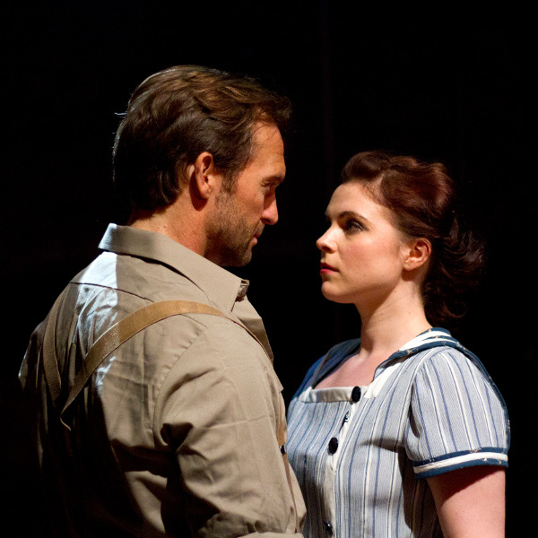 Tim Rogers as Billy Bigelow and Gemma Sutton as Julie Jordan