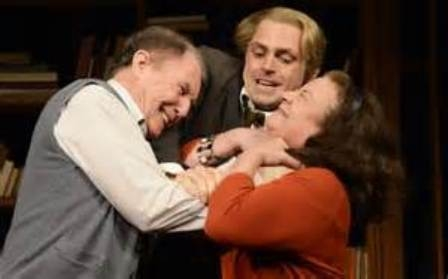 Tim Piggott-Smith, Nathan Wiley and Claire Higgins in Who's Afraid Of Virginia Woolf