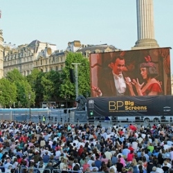 A BP Big Screen showing of Puccini's La rondine in 2013 (Royal Opera)