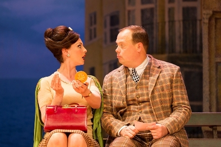 Emma Barton (Dolly) and Gavin Spokes (Francis Henshall) in One Man Two Guvnors