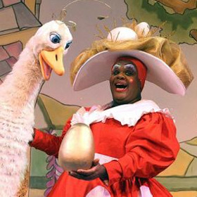 Clive Rowe in Mother Goose at the Hackney Empire in 2008