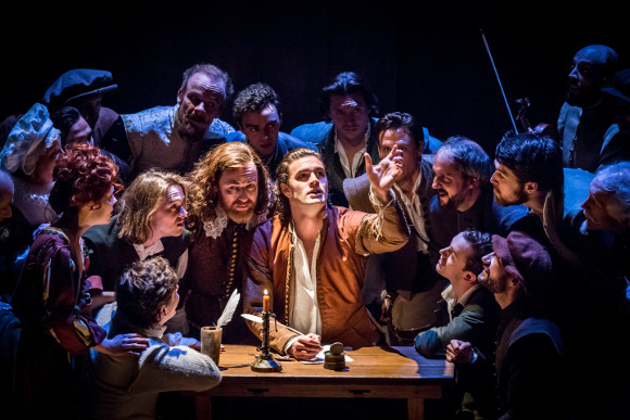 'Love letter to theatre': Tom Bateman (Will Shakespeare) and the cast of Shakespeare in Love