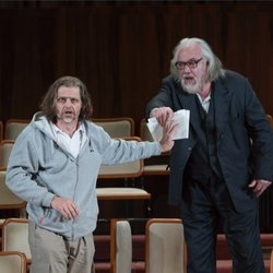 Rainer Trost (l) as Aron & John Tomlinson (r) as Moses