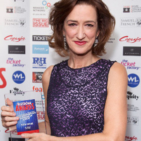 Haydn Gwynne at this year's WhatsOnStage Awards