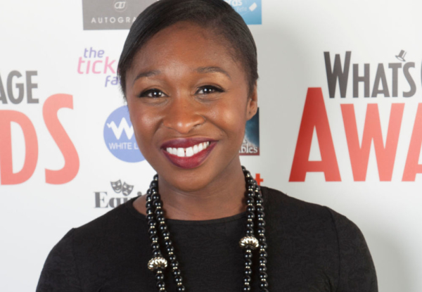 Cynthia Erivo at the 2014 WhatsOnStage Awards