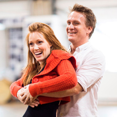 Jamie Parker with Clare Foster in rehearsals