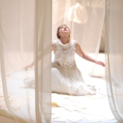 Katie Bray as Charlotte in Werther (Arcola Theatre)