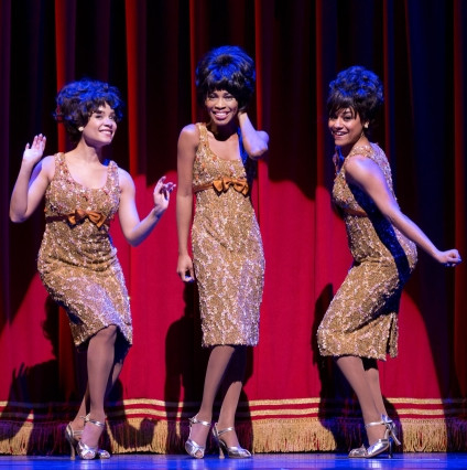 Sydney Morton, Valisia Lekae and Ariana DeBose in the Broadway production of Motown the Musical