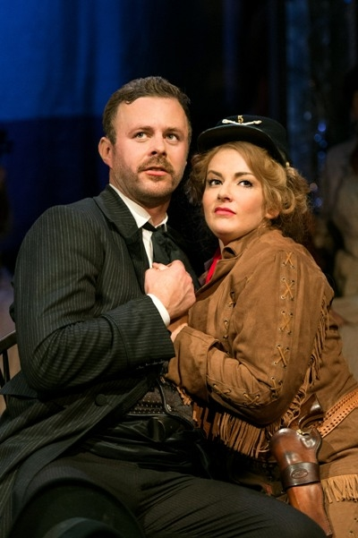 Tom Lister and Jodie Prenger in Calamity Jane.