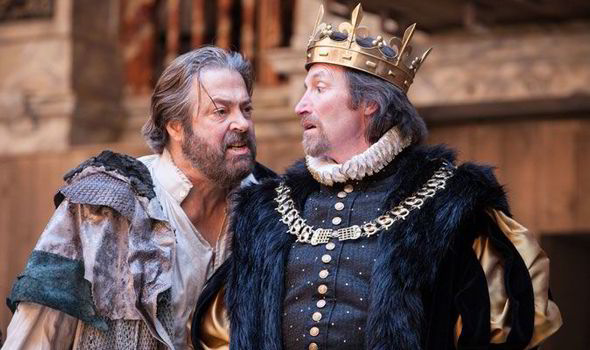 Allam as Prospero opposite Pete Hamilton Dyer as Alonso in The Tempest (2011)