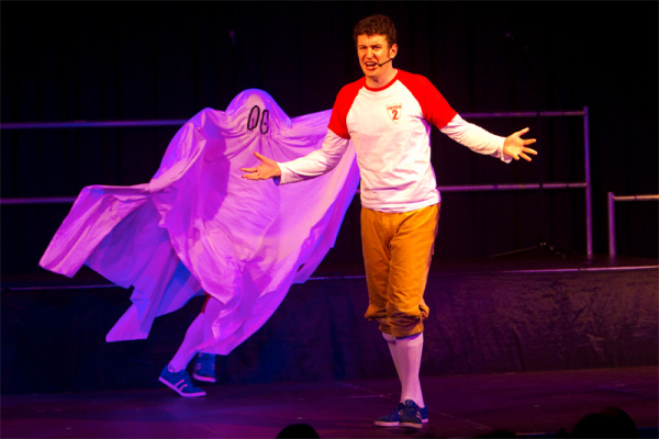 Dan and Jeff from Potted Panto ably demonstrating the ghost gag