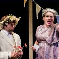 Tom Morss as Albert and Madeleine Bradbury Rance as Lady Billows in Albert Herring (Hampstead Garden Opera)