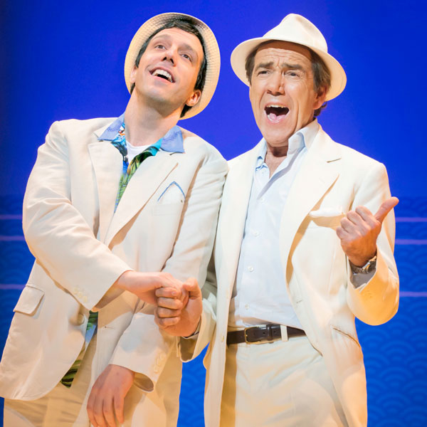 Alex Gaumond and Robert Lindsay in Dirty Rotten Scoundrels