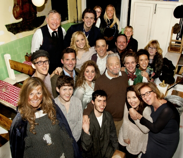 Stephen Sondheim with the cast of Sweeney Todd
