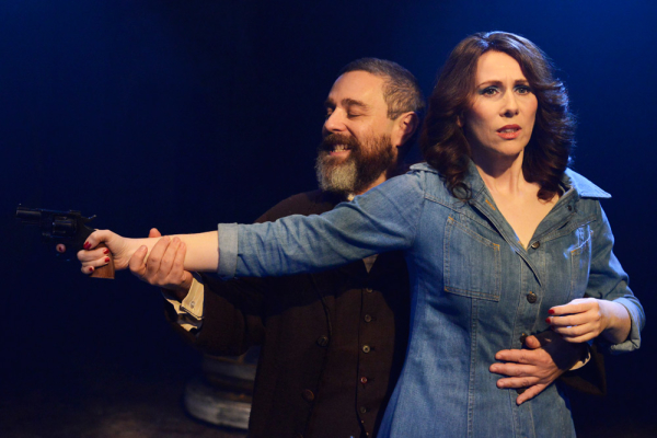 'Comedy chops' - Andy Nyman (Charles Guiteau) and Catherine Tate (Sara Jane Moore) in Assassins