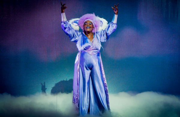Sharon D Clarke as 'funky soul diva' Charity in Mother Goose
