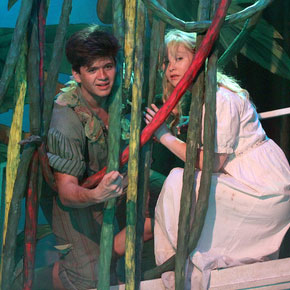Jay Worley and Bronte Tadman as Peter and Wendy
