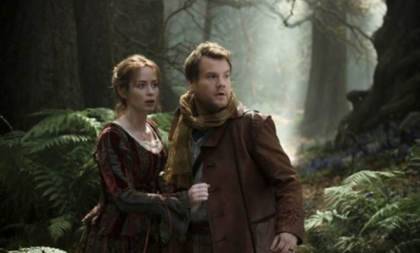 Fairytale marriage: Emily Blunt and James Corden in Into the Woods
