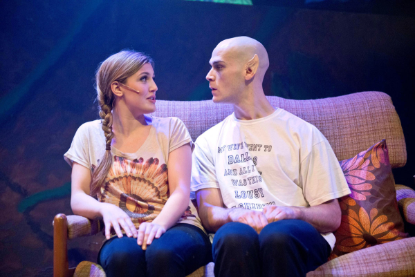 Love at first fright? Georgina Hagen as Shelley and Rob Compton as Bat Boy