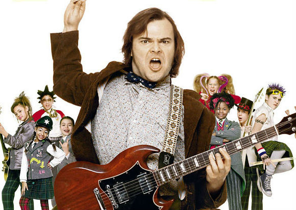 Getting read to rock Broadway - Jack Black in the movie School of Rock (2003)