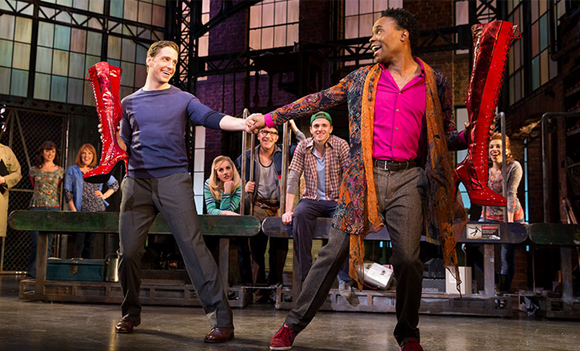 Andy Kelso and Billy Porter in Kinky Boots