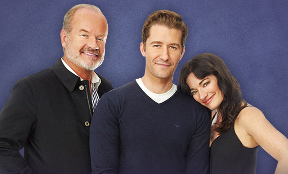 Kelsey Grammer, Matthew Morrison and Laura Michelle Kelly