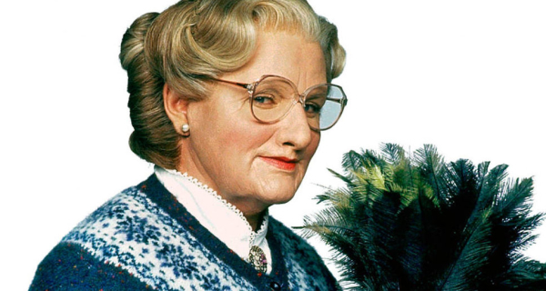 Robin Williams as the the redoubtable Mrs Doubtfire