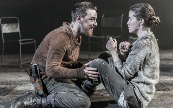 James McAvoy and Claire Foy in The Scottish Play