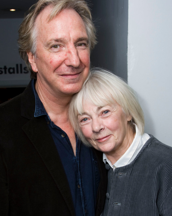 Geraldine McEwan with her Barchester Towers co-star Alan Rickman in 2008