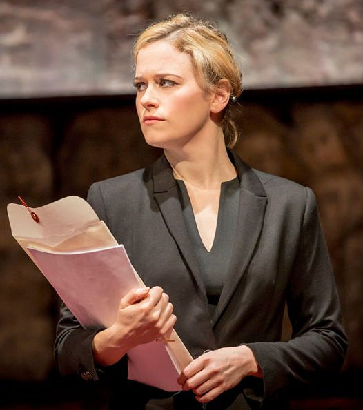 Katie Brayben in Mike Bartlett's King Charles III at the Almeida