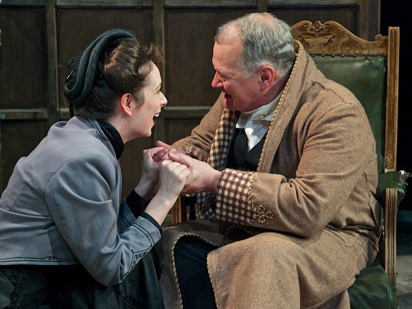Family drama: Charlotte Powell (Janet De Mullin) and Stuart Organ (Mr De Mullin)