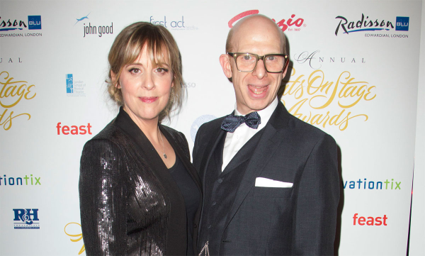 Hosts Mel Giedroyc and Steve Furst