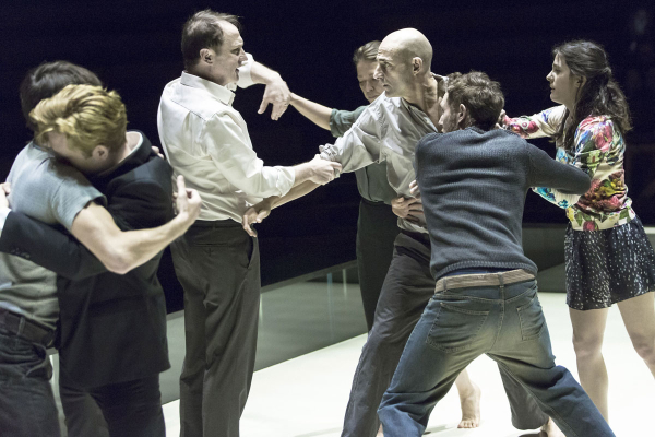 Mark Strong and the company of A View from the Bridge