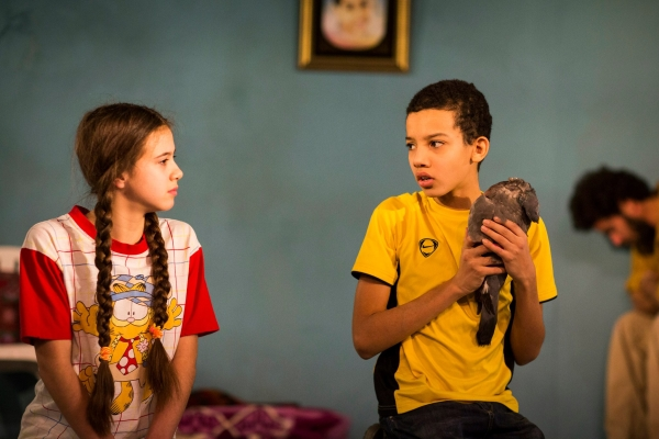 Child's play: Shakira Riddell-Morales (Lubna) and Yusuf Hofri (Khalil) in Fireworks