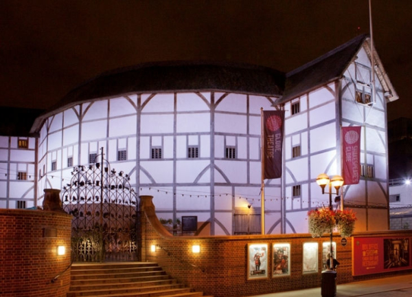 The Globe by night