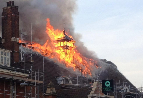 Battersea Arts Centre ablaze
