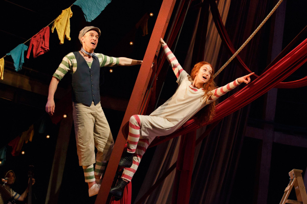 Matt Costain as Jem and Phoebe Thomas as Hetty in Hetty Feather